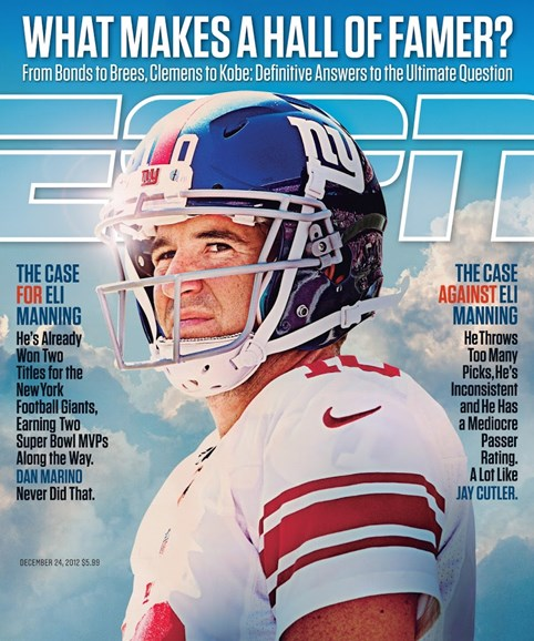 ESPN The Magazine Cover - 12/24/2012