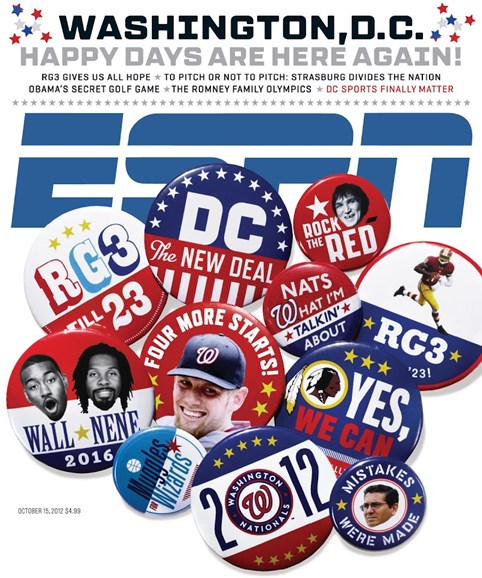 ESPN The Magazine Cover - 10/15/2012