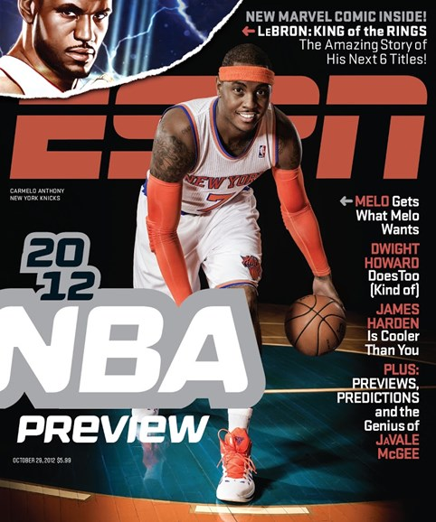 ESPN The Magazine Cover - 10/29/2012
