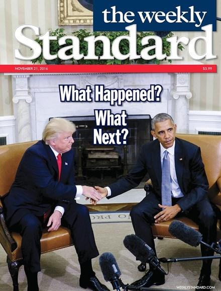 Washington Examiner Cover - 11/21/2016