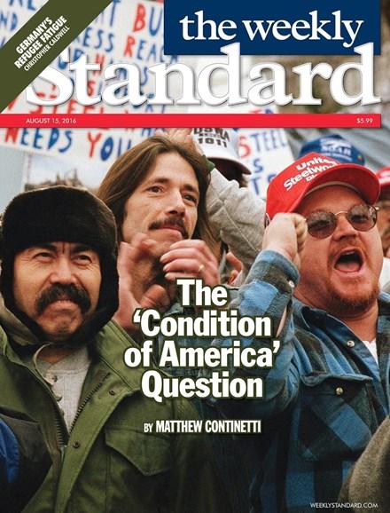 Washington Examiner Cover - 8/15/2016