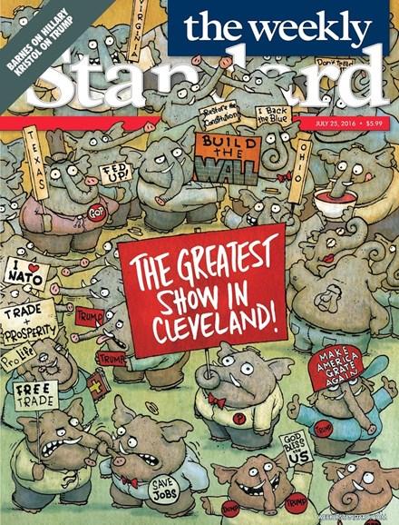 Washington Examiner Cover - 7/25/2016