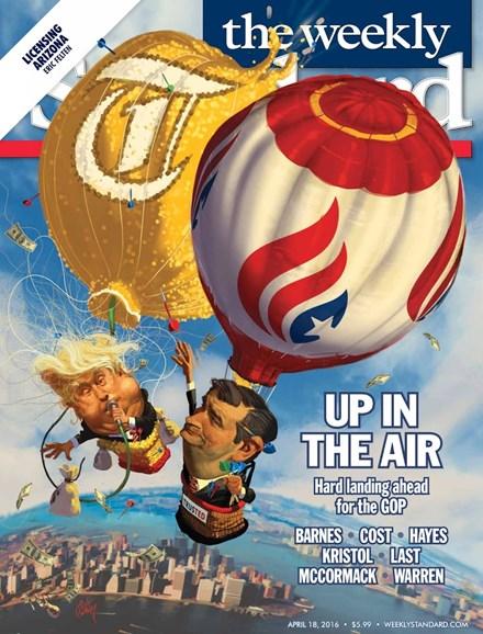 Washington Examiner Cover - 4/18/2016