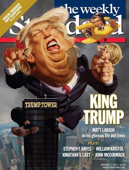 Washington Examiner Cover - 2/1/2016