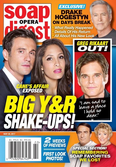 Soap Opera Digest Cover - 5/29/2017