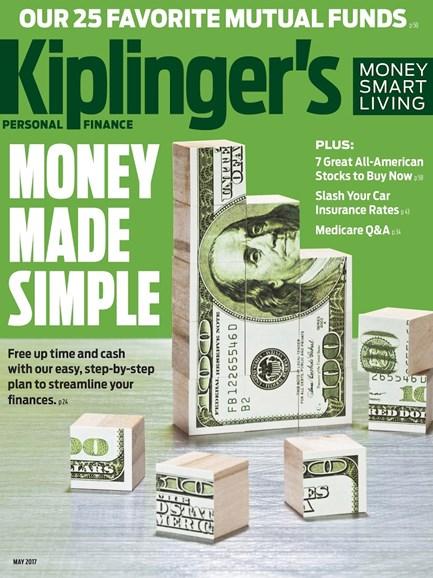 Kiplinger's Personal Finance Cover - 5/1/2017