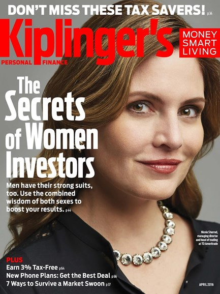 Kiplinger's Personal Finance Cover - 4/1/2016