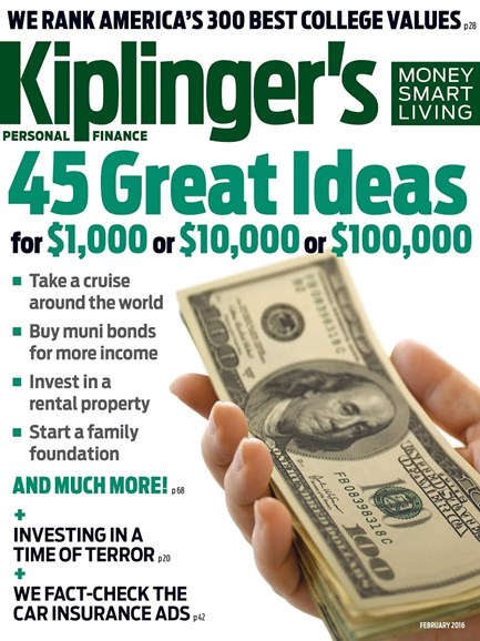 Kiplinger's Personal Finance Cover - 2/1/2016