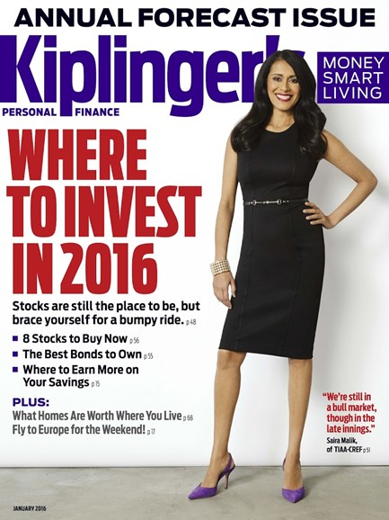 Kiplinger's Personal Finance Cover - 1/1/2016
