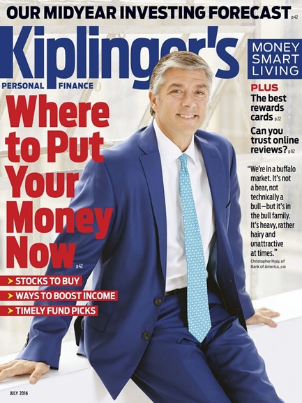 Kiplinger's Personal Finance Cover - 7/1/2016