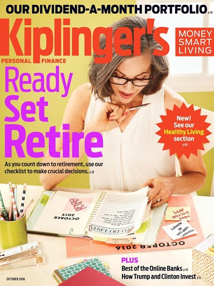 Kiplinger's Personal Finance Cover - 10/1/2016