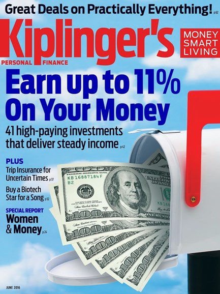 Kiplinger's Personal Finance Cover - 6/1/2016