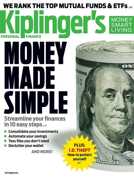 Kiplinger's Personal Finance Cover - 9/1/2015