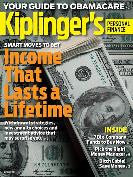 Kiplinger's Personal Finance Cover - 10/1/2013