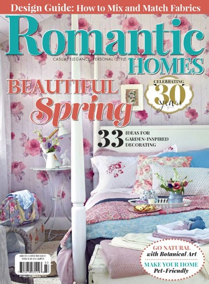 Romantic Homes Cover - 3/1/2017