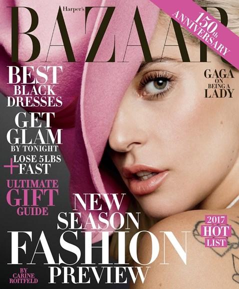 Harper's Bazaar Cover - 12/1/2016