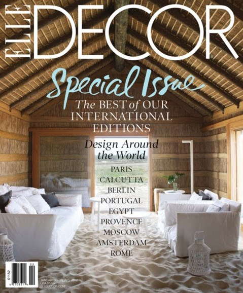 ELLE DECOR Cover - 1/1/2012