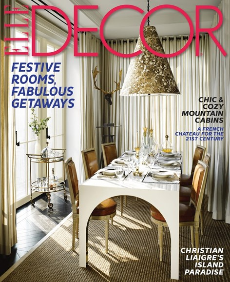 ELLE DECOR Cover - 12/1/2013