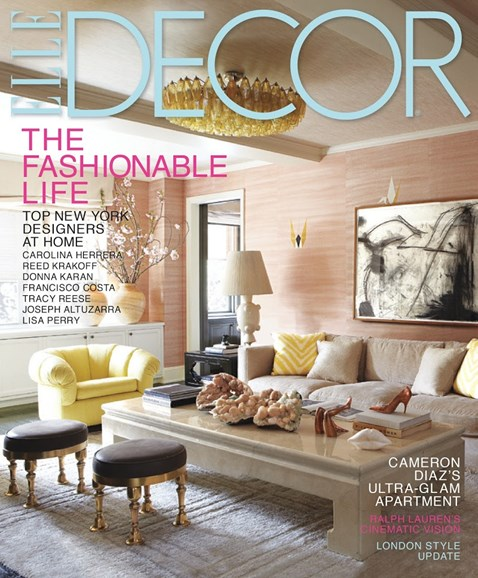 ELLE DECOR Cover - 10/1/2013
