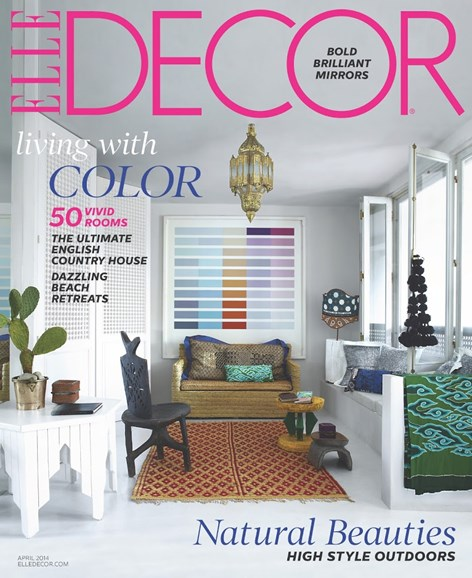 ELLE DECOR Cover - 4/1/2014
