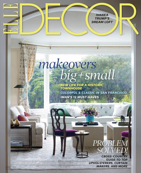 ELLE DECOR Cover - 3/1/2014