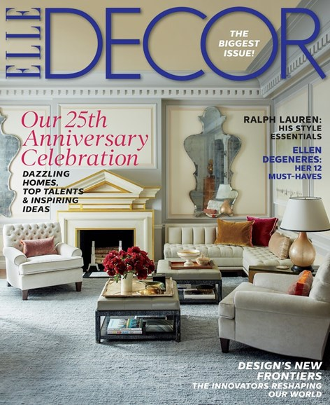 ELLE DECOR Cover - 9/1/2014