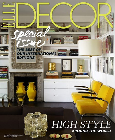 ELLE DECOR Cover - 1/1/2015