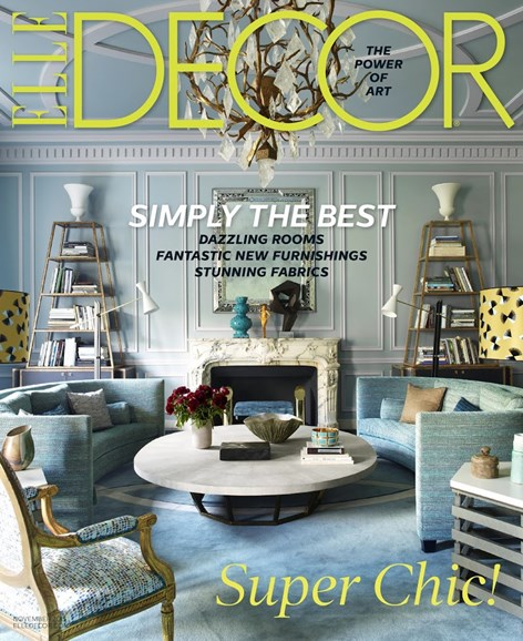 ELLE DECOR Cover - 11/1/2015