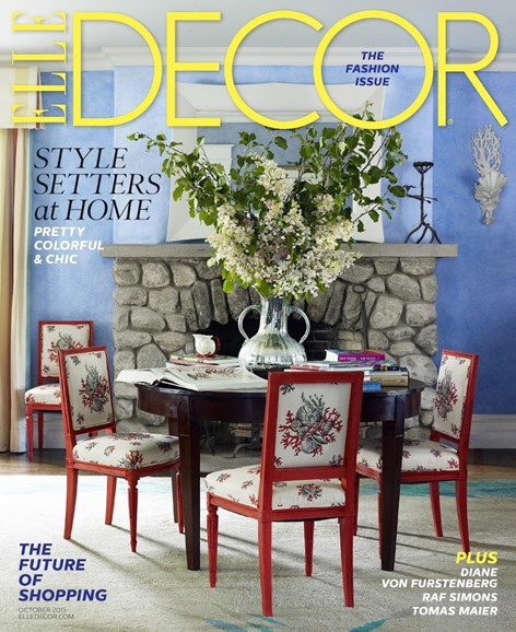 ELLE DECOR Cover - 10/1/2015