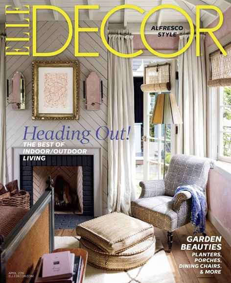 ELLE DECOR Cover - 4/1/2016