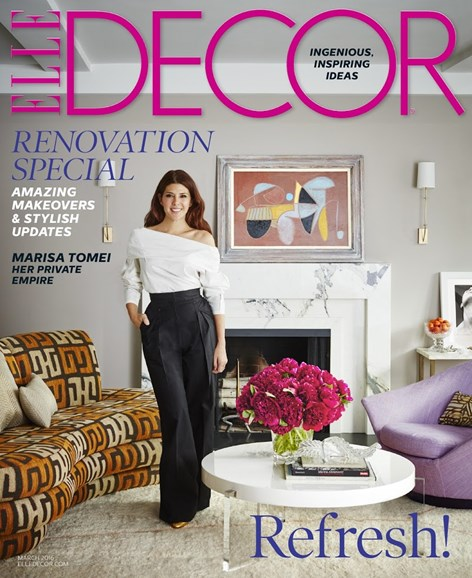 ELLE DECOR Cover - 3/1/2016