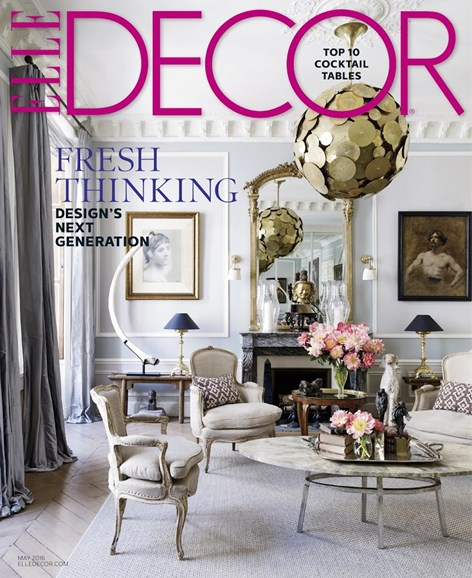 ELLE DECOR Cover - 5/1/2016
