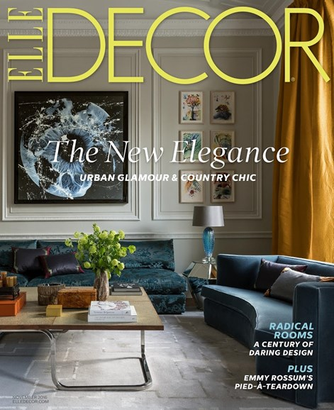 ELLE DECOR Cover - 11/1/2016