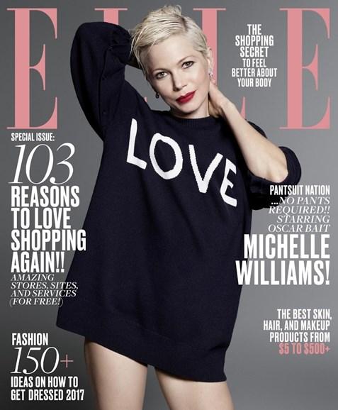 ELLE Cover - 1/1/2017