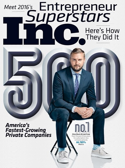 Inc. Magazine Cover - 9/1/2016