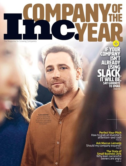 Inc. Magazine Cover - 12/1/2015