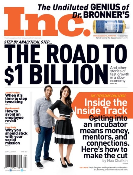 Inc. Magazine Cover - 4/1/2012