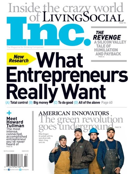 Inc. Magazine Cover - 3/1/2012