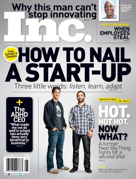 Inc. Magazine Cover - 5/1/2012