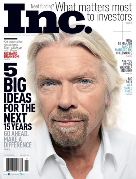Inc. Magazine Cover - 11/1/2012
