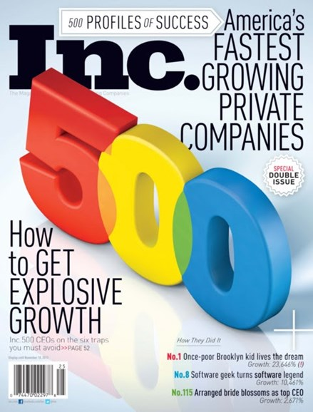Inc. Magazine Cover - 9/1/2012