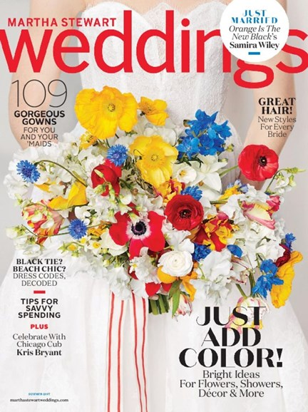 Martha Stewart Weddings Cover - 6/1/2017
