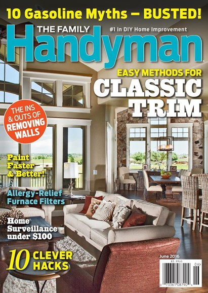The Family Handyman Cover - 6/1/2016
