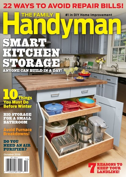 The Family Handyman Cover - 10/1/2016