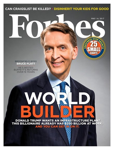 Forbes Cover - 5/16/2017