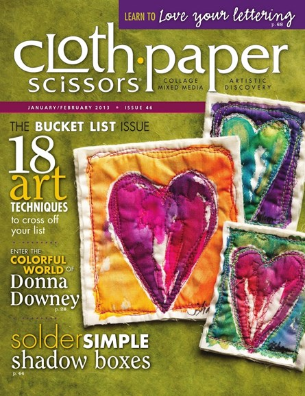Cloth Paper Scissors Cover - 1/1/2013