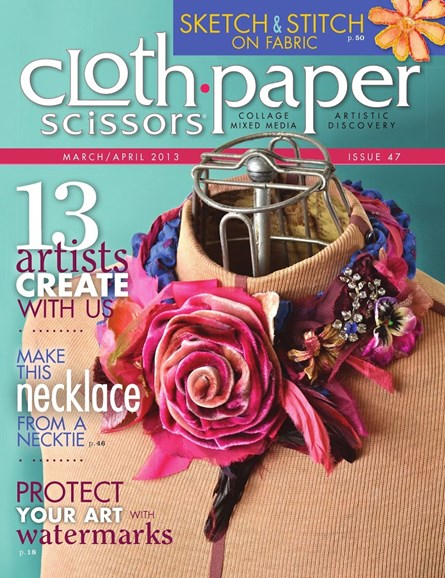Cloth Paper Scissors Cover - 3/1/2013