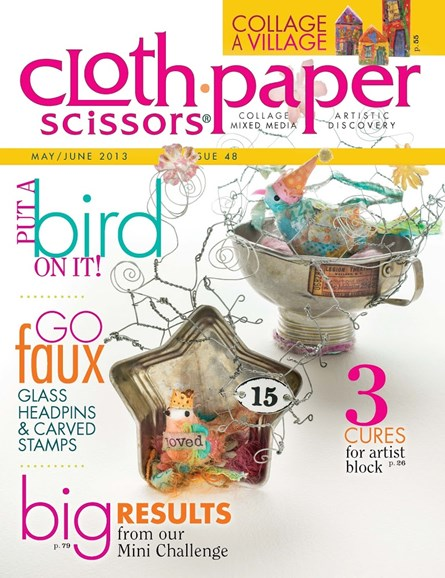 Cloth Paper Scissors Cover - 5/1/2013