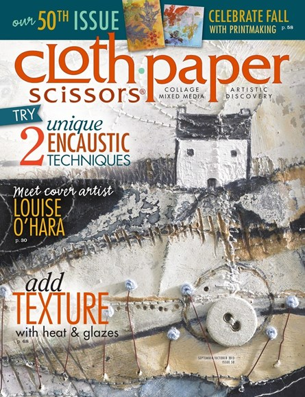 Cloth Paper Scissors Cover - 9/1/2013