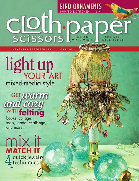 Cloth Paper Scissors Cover - 11/1/2012